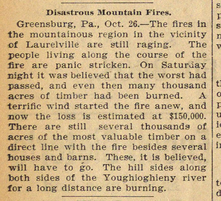 Disastrous Mountain Fires image