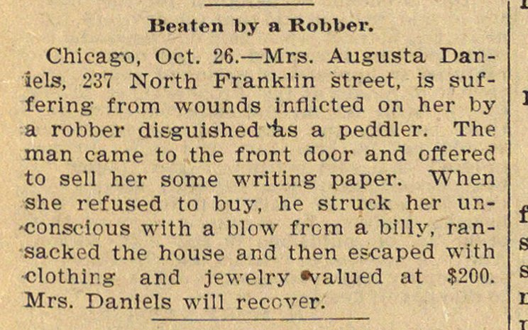 Beaten By A Robber image