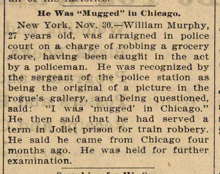 "He Was ""mugged"" In Chicago image"