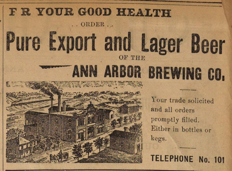 Classified Ad: Ann Arbor Brewing Co. image