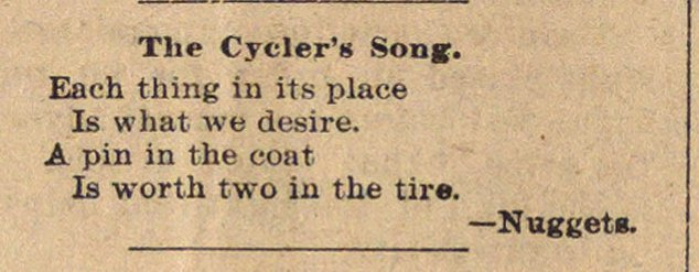 The Cycler's Song image