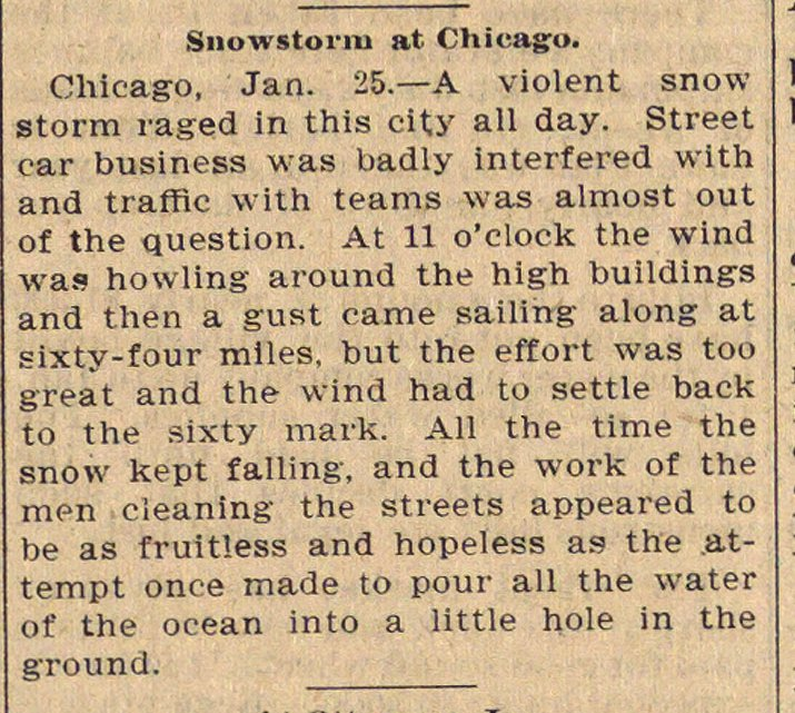 Snowstorm At Chicago image