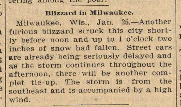 Blizzard In Milwaukee image