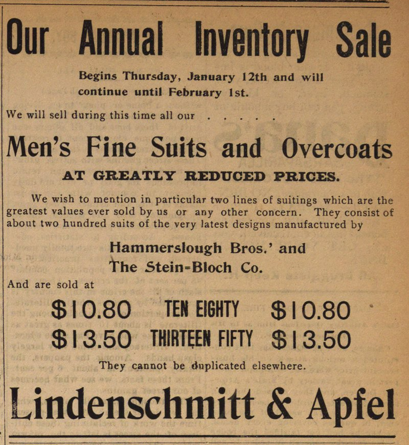Our Annual Inventory Sale image