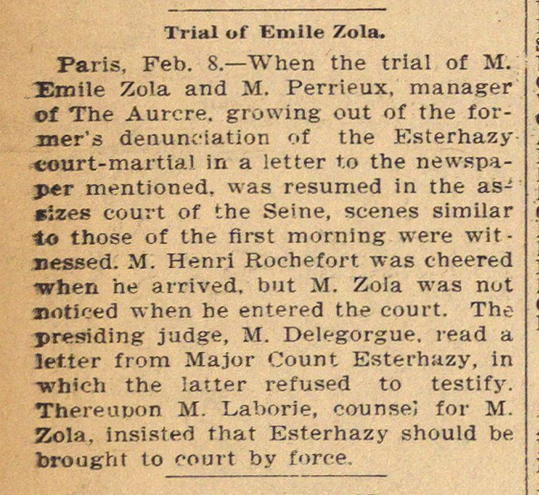 Trial Of Emile Zola image
