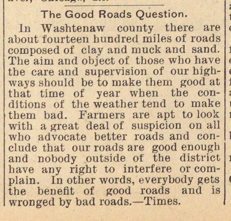 The Good Roads Question image