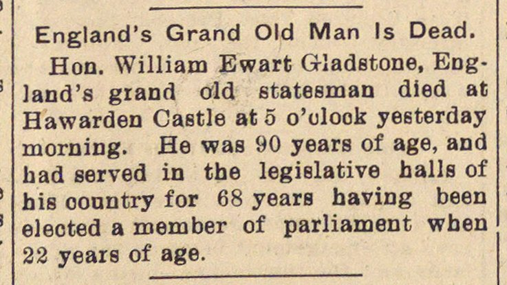 England's Grand Old Man Is Dead image