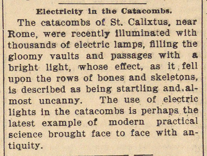 Electricity In The Catacombs image