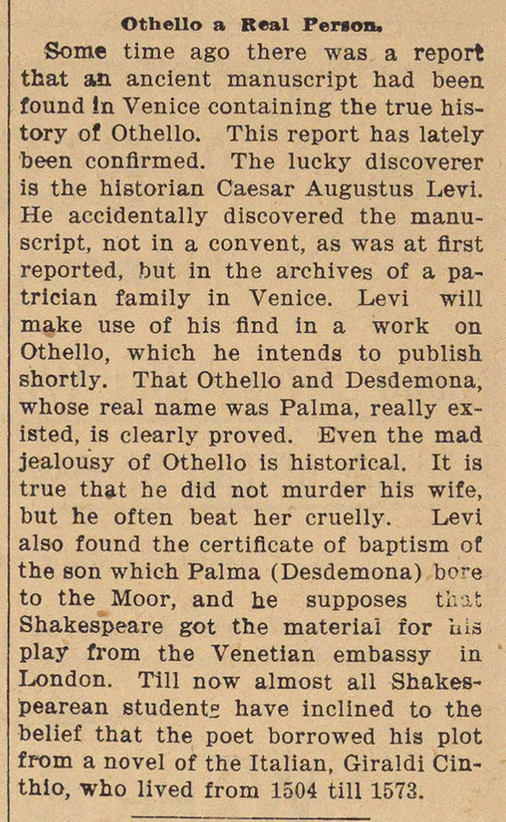 othello newspaper