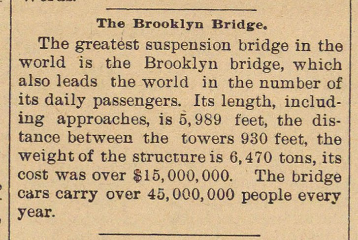 The Brooklyn Bridge image