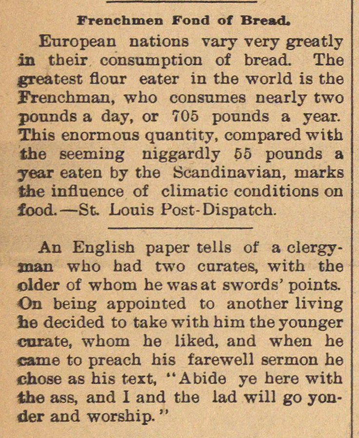 Frenchmen Fond Of Bread image