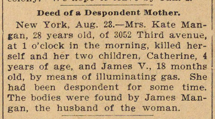 Deed Of A Despondent Mother image