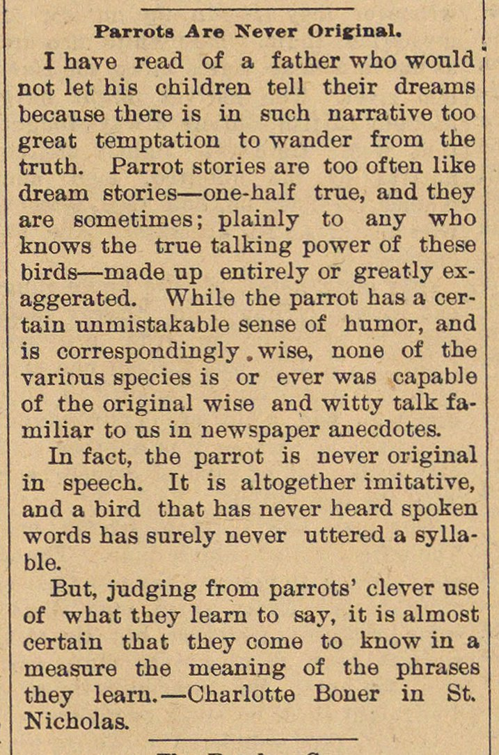 Parrots Are Never Original image