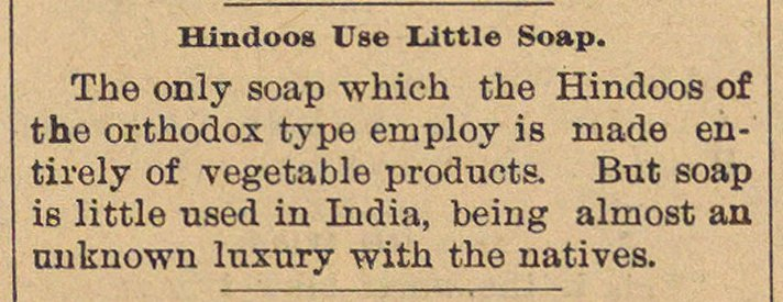 Hindoos Use Little Soap image