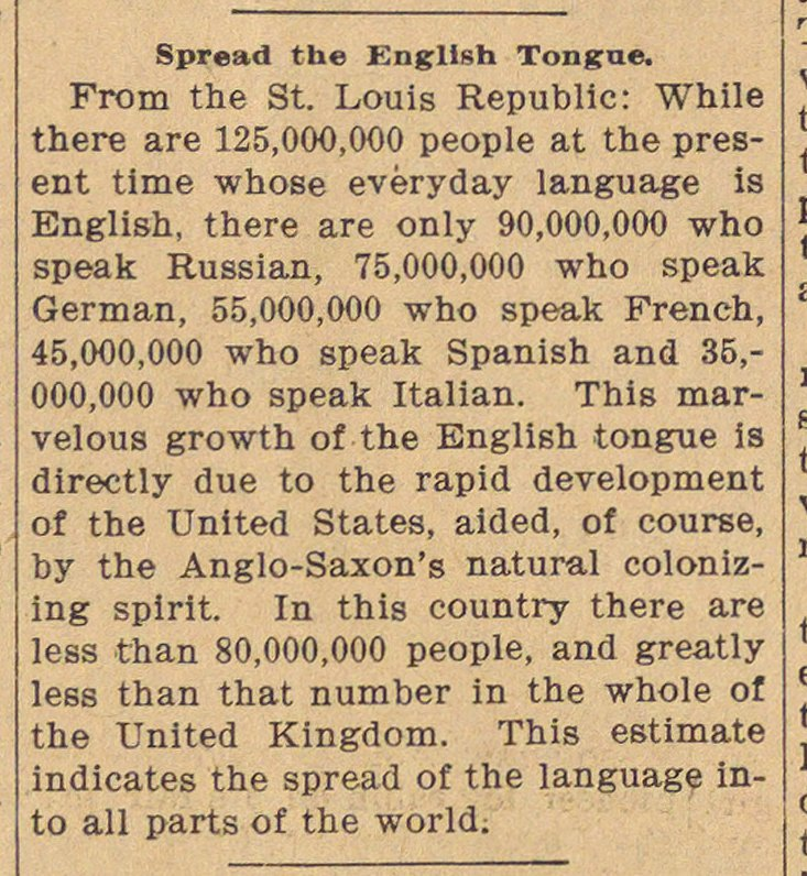 Spread The English Tongue image