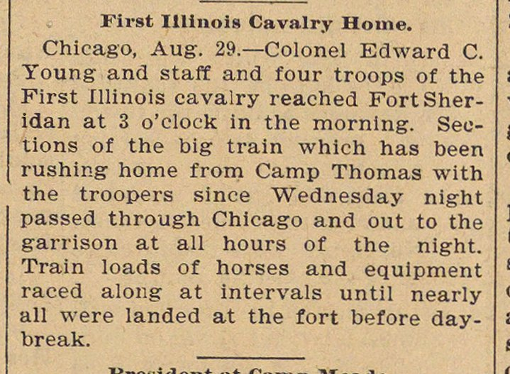 First Illinois Cavalry Home image