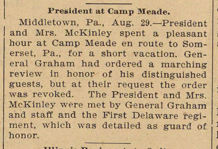 President At Camp Meade image