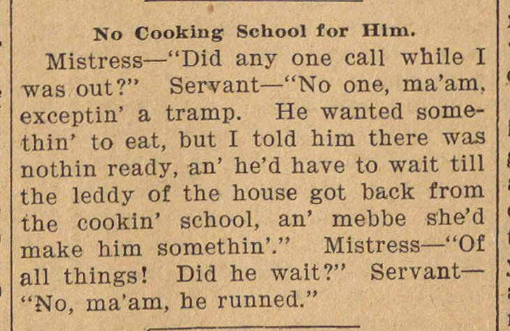 No Cooking School For Him image