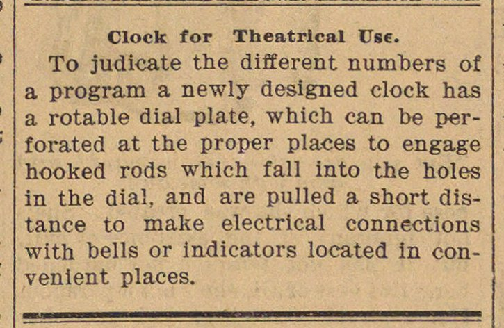 Clock For Theatrical Use image