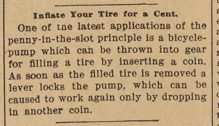 Inflate Your Tire For A Cent image