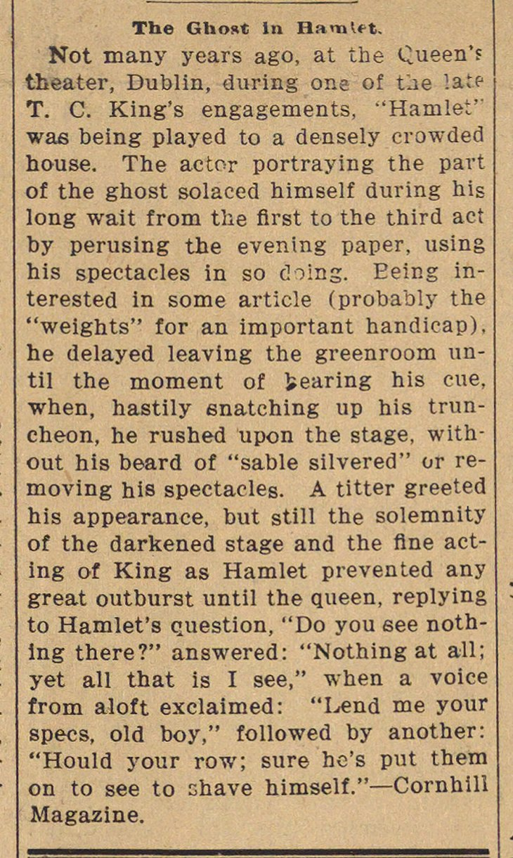 The Ghost In Hamlet image