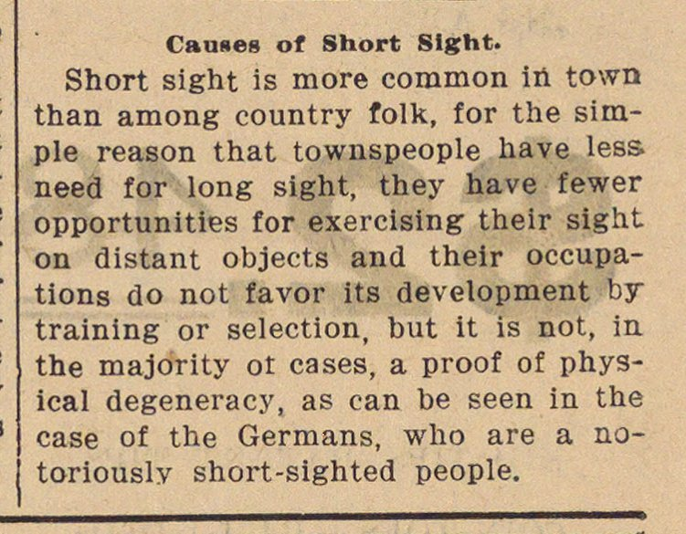 Causes Of Short Sight image