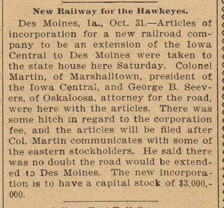 New Railway For The Hawkeyes image