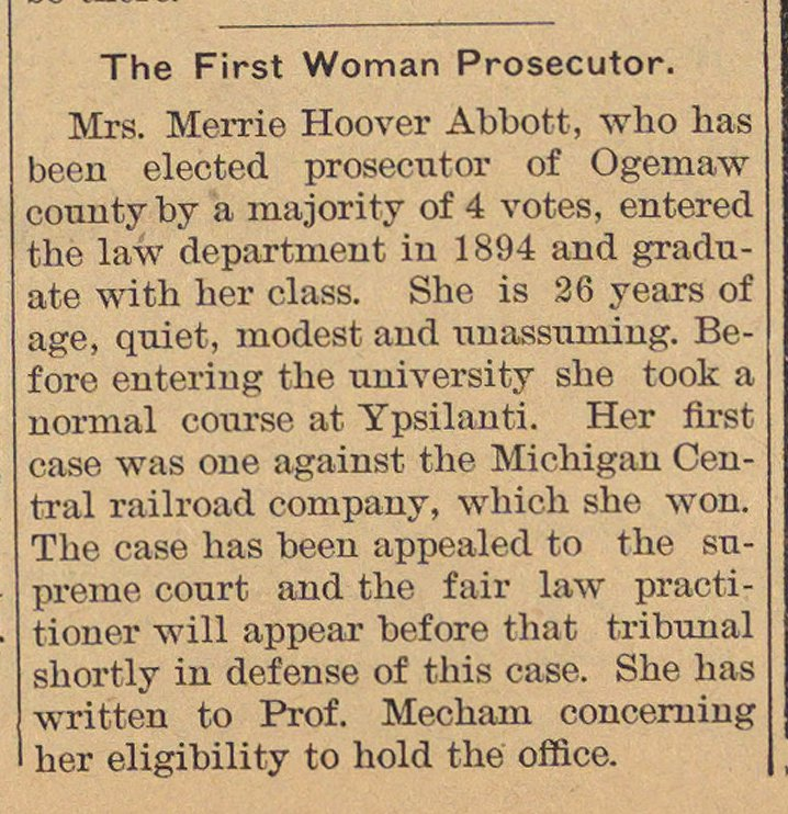 The First Woman Prosecutor image