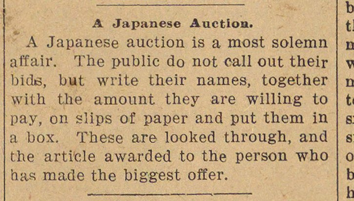 A Japanese Auction image