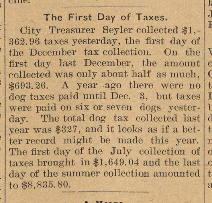 The First Day Of Taxes image