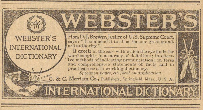 Webster's International Dictionary image