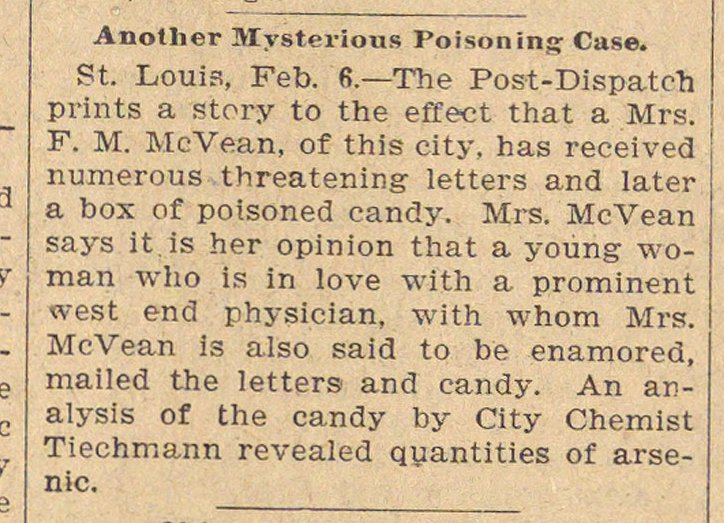 Another Mysterious Poisoning Case image