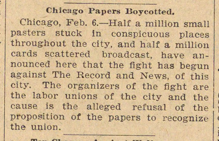 Chicago Papers Boycotted image