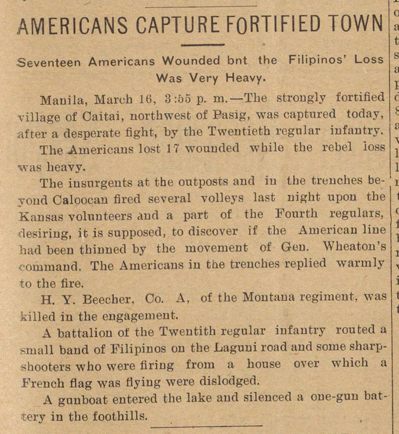 Americans Capture Fortified Town image