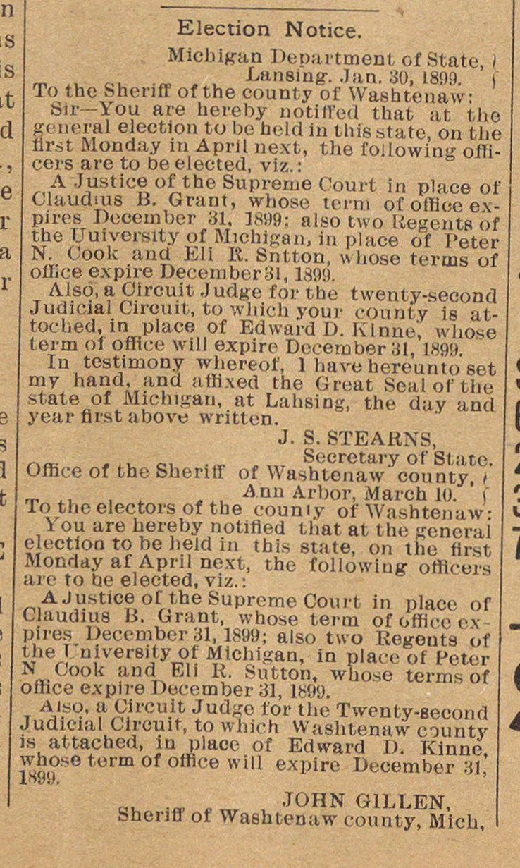 Election Notice image