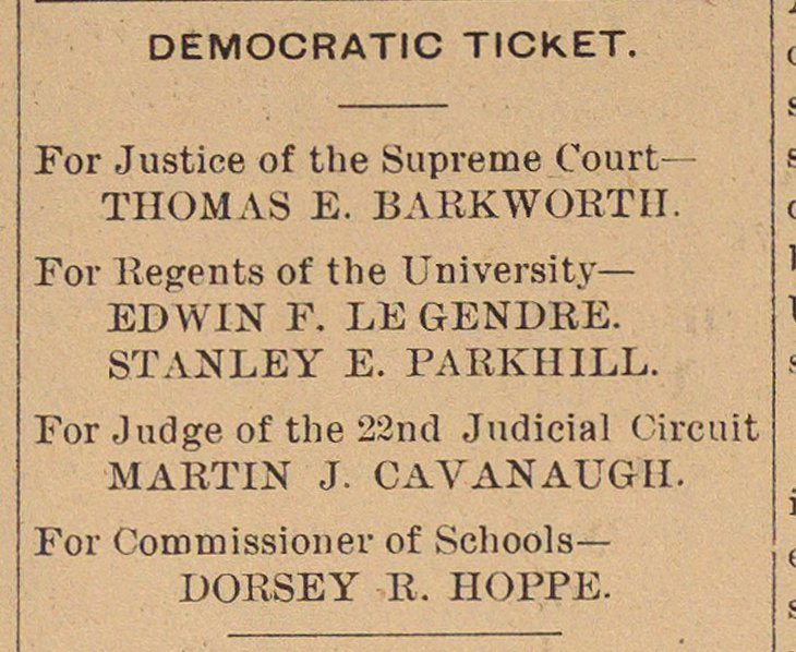 Democratic Ticket image