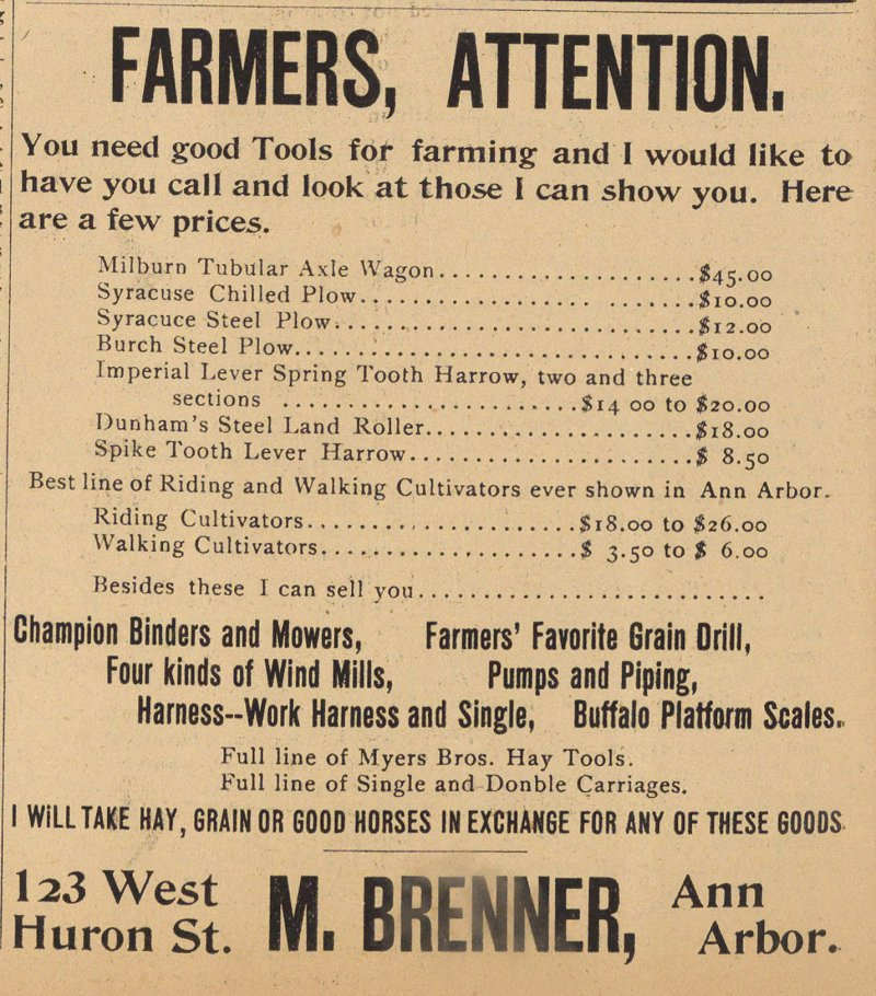 Farmers, Attention image