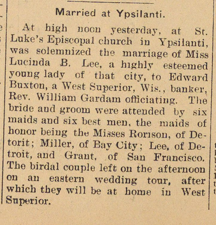 Married At Ypsilanti image