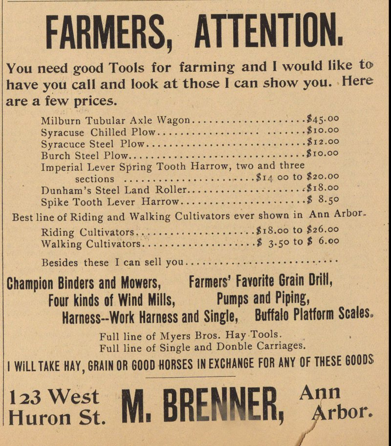 Farmers, Attention. image