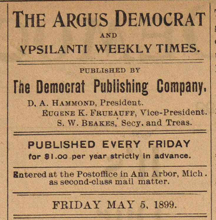 The Argus Democrat image