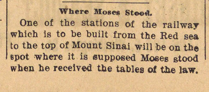 Where Moses Stood image