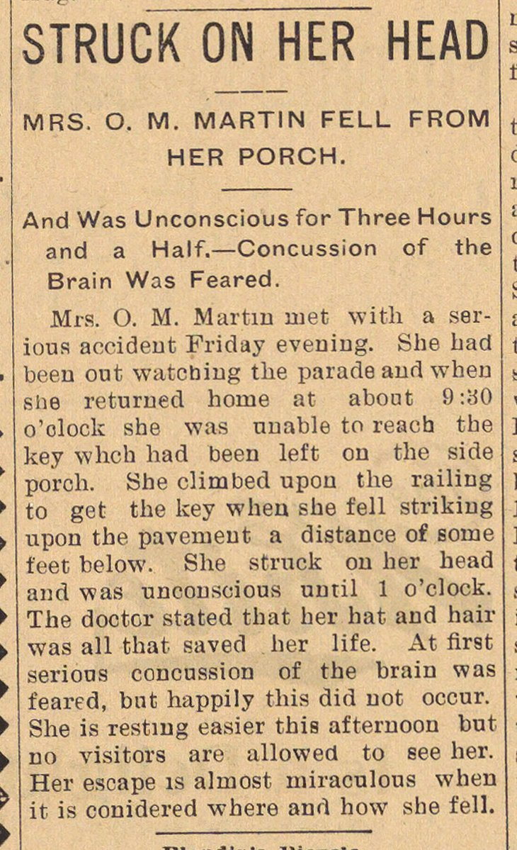 Struck On Her Head image