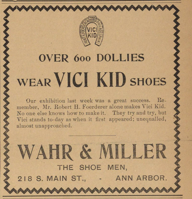Wahr and Miller, The Shoe Men image