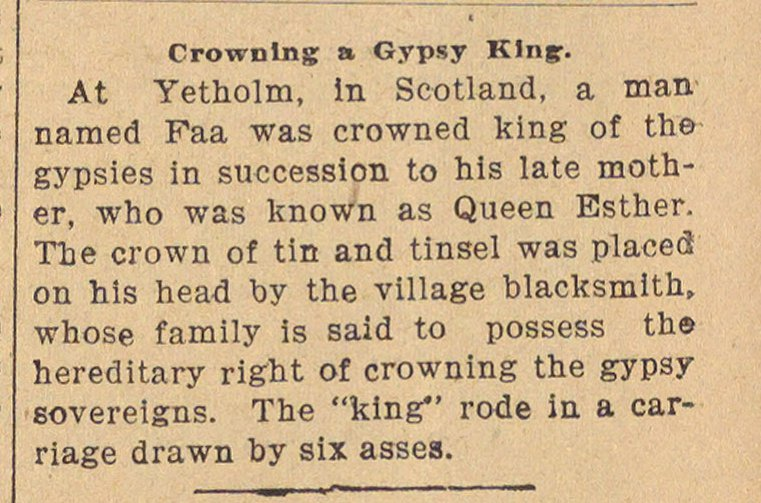 Crowning A Gypsy King image