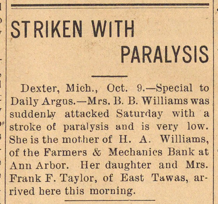Striken With Paralysis image