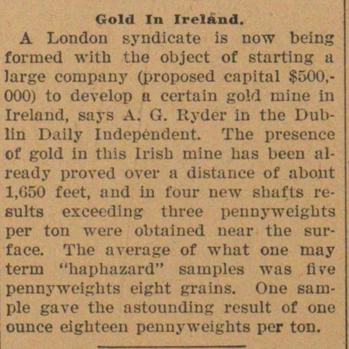Gold In Ireland image