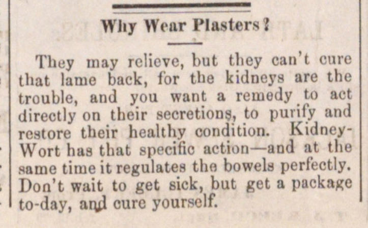 Why Wear Plasters? image