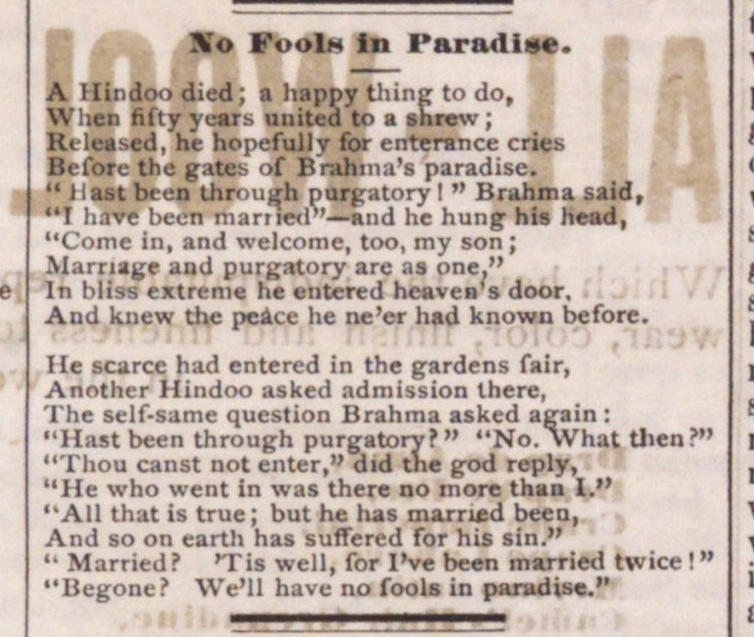 No Fools In Paradise image
