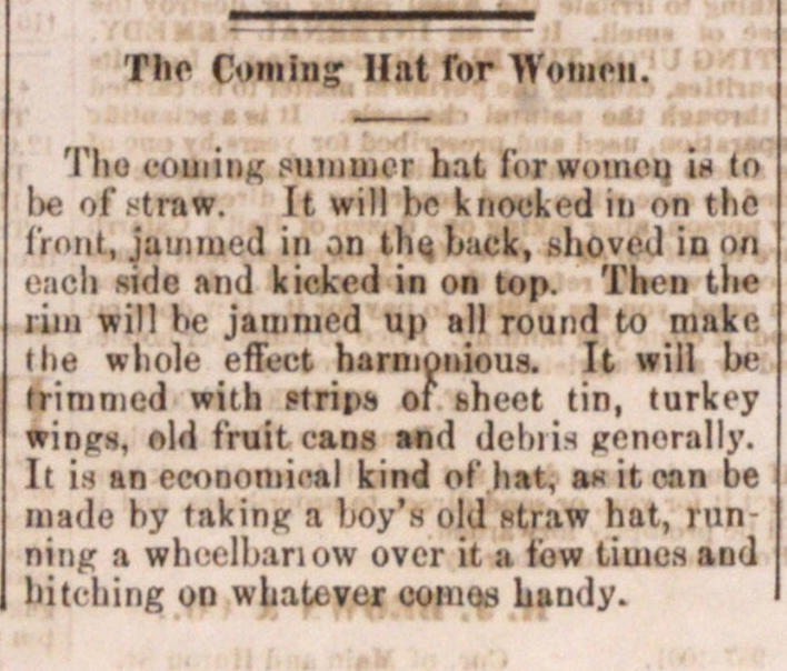 The Coming Hat For Women image