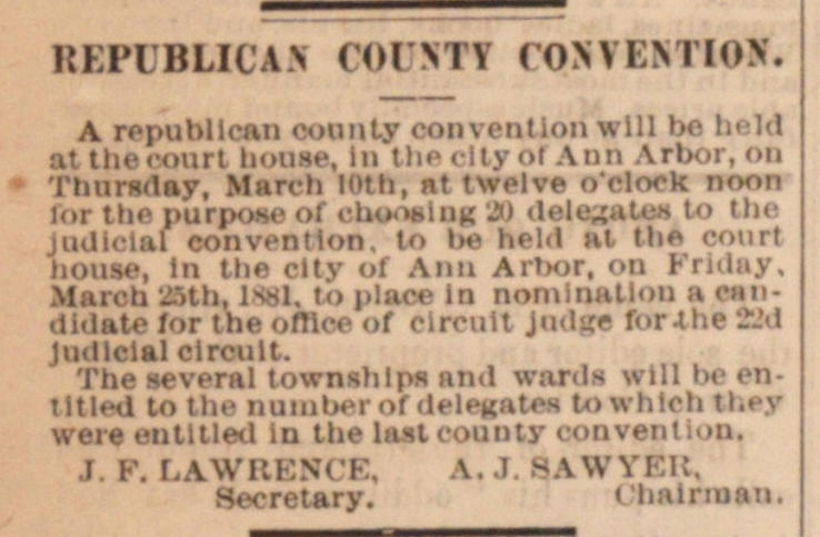 Republican County Convention image